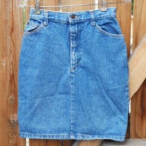 Vintage denim high rise mini skirt